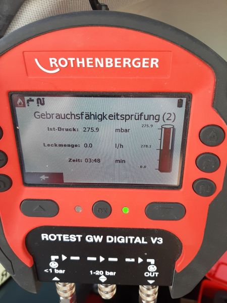 Rothenberger ROTEST GW Digital V3 Gas/Wasser- Version AT