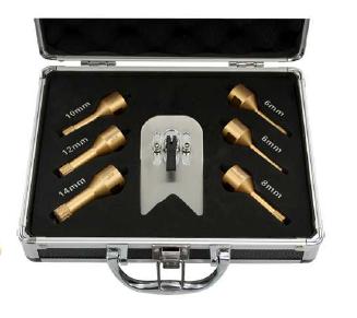 Feinsteinzeugbohrer Set 6mm  bis 14mm