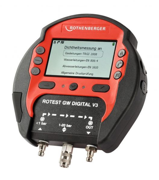Rothenberger ROTEST GW Digital V3 Gas - Version AT