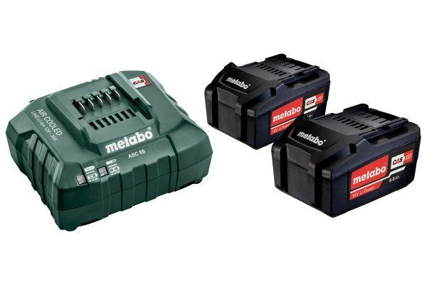 Metabo Akku-Pack bestehend aus Ladegerät und 2 Stück 4.0 Ah Li-Ion-Akku ( auch passend für Romax 400