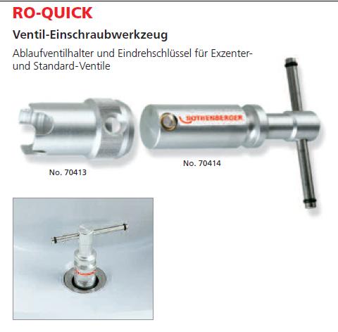 ROTHENBERGER Ventil-Einschraubwerkzeug RO-QUICK Set
